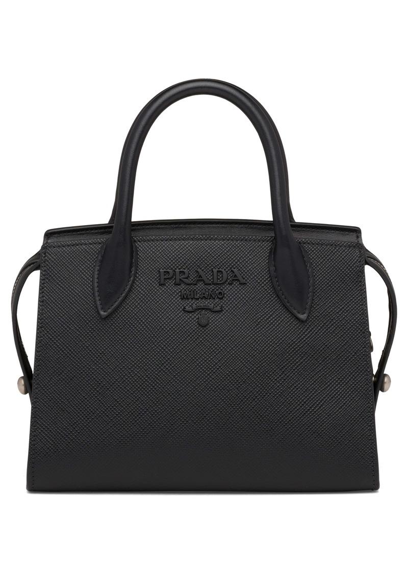 Prada Small Monochrome Saffiano Leather Bag