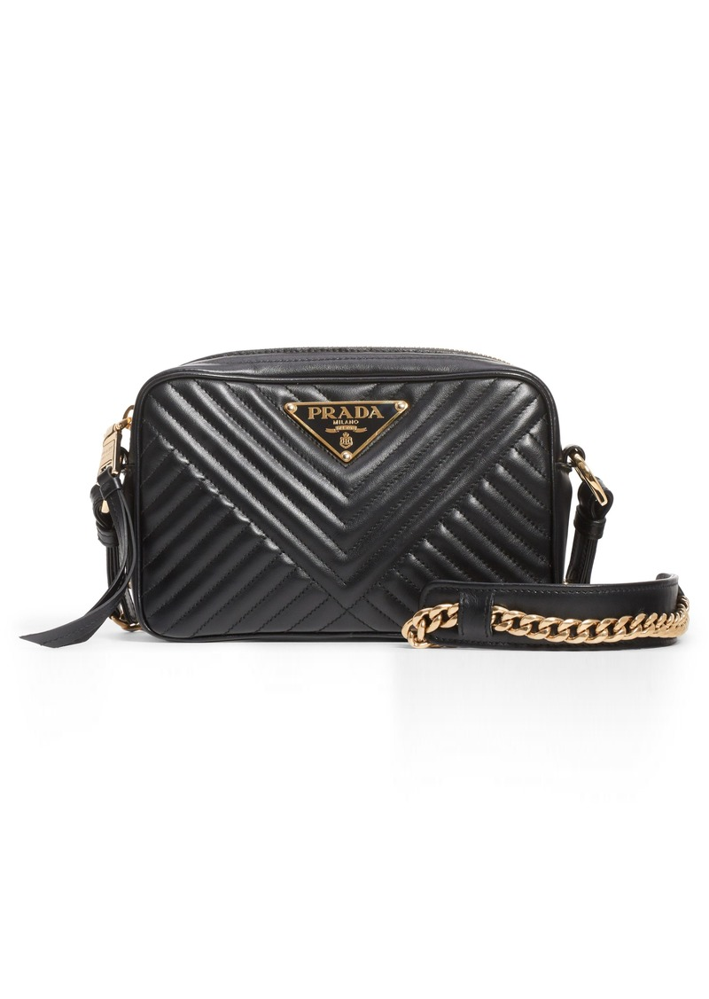 e83e210325a3 Prada Prada Small Quilted Leather Camera Bag