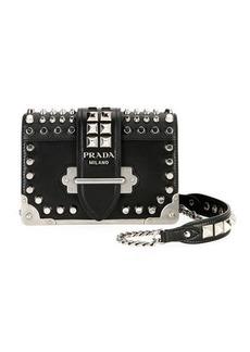 Prada Small Studded Cahier Crossbody Bag