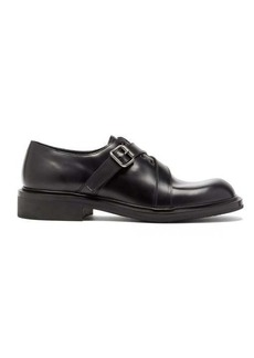 Prada Spazzalato leather monk-strap shoes