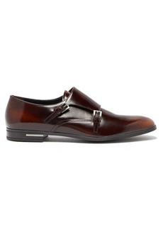 Prada Spazzalato leather monk-strap shoes