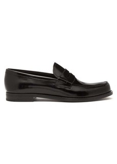 Prada Spazzalato-leather penny loafers