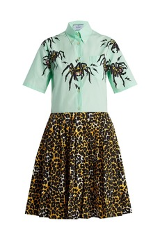 Prada Spider and leopard-print shirtdress