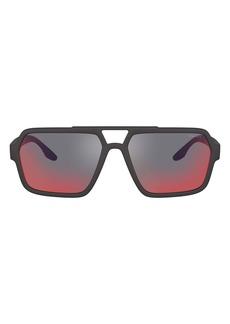 PRADA SPORT 59mm Rectangle Sunglasses