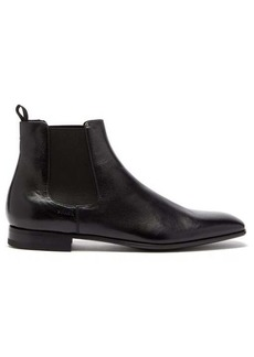 Prada Square-toe leather chelsea boots
