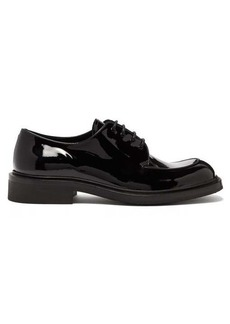 Prada Square-toe patent-leather derby shoes