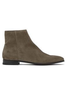Prada Square-toe suede chelsea boots