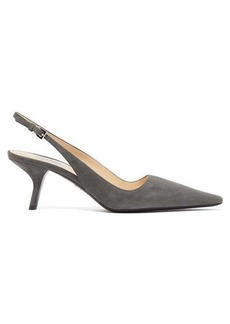 Prada Squared point-toe slingback suede pumps