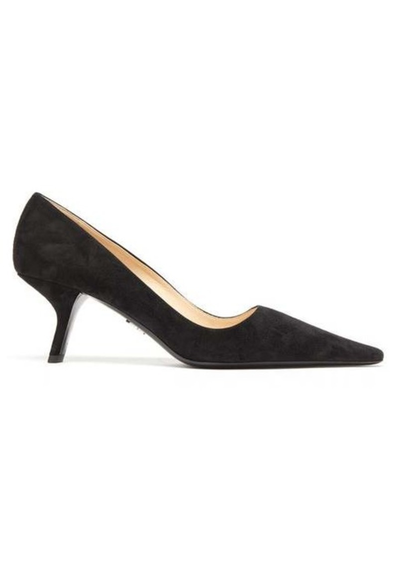 Prada Squared point-toe suede pumps
