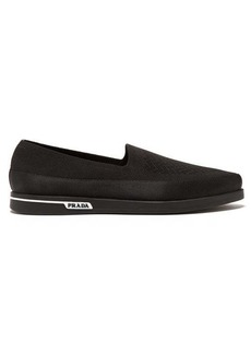 Prada St Tropez technical-knitted loafers