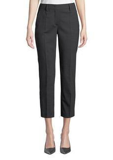 Prada Straight-Leg Cropped Stretch-Wool Pants