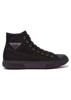 Prada Stratus canvas high top