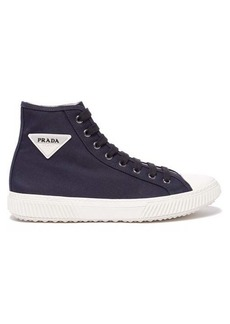 Prada Stratus cotton-canvas high-top trainers