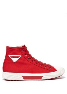 Prada Stratus high-top canvas trainers