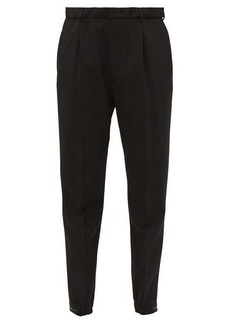 Prada Stretch-cuff wool-blend trousers