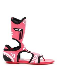 Prada Stretch Sock Sandals