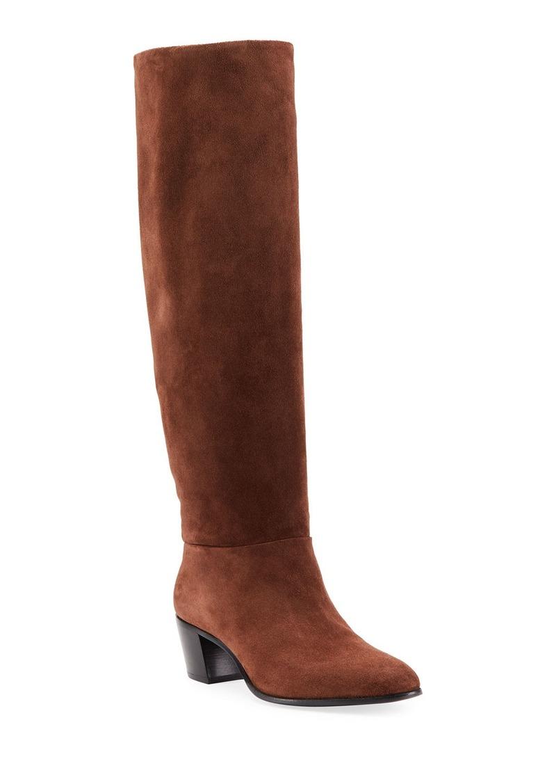 Prada Stretch-Suede Knee Boots