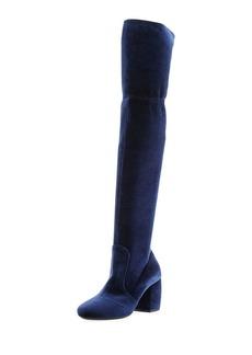 Prada Stretch-Velvet Knee Boot