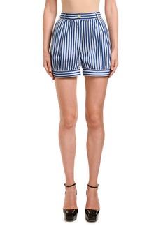 Prada Striped Poplin Fantasia Bloom Shorts