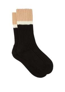 Prada Striped rib-knitted stretch-cotton socks
