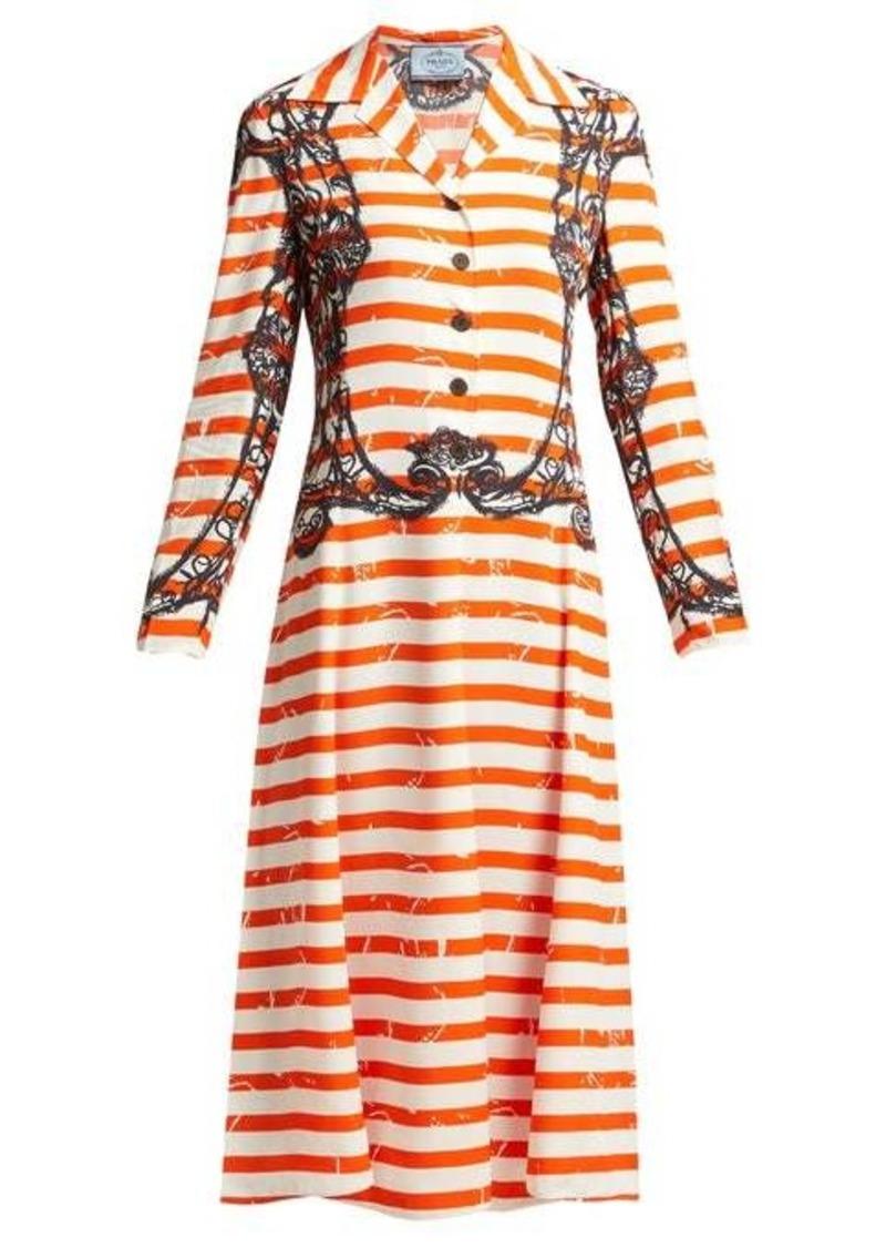 Prada Striped twill dress