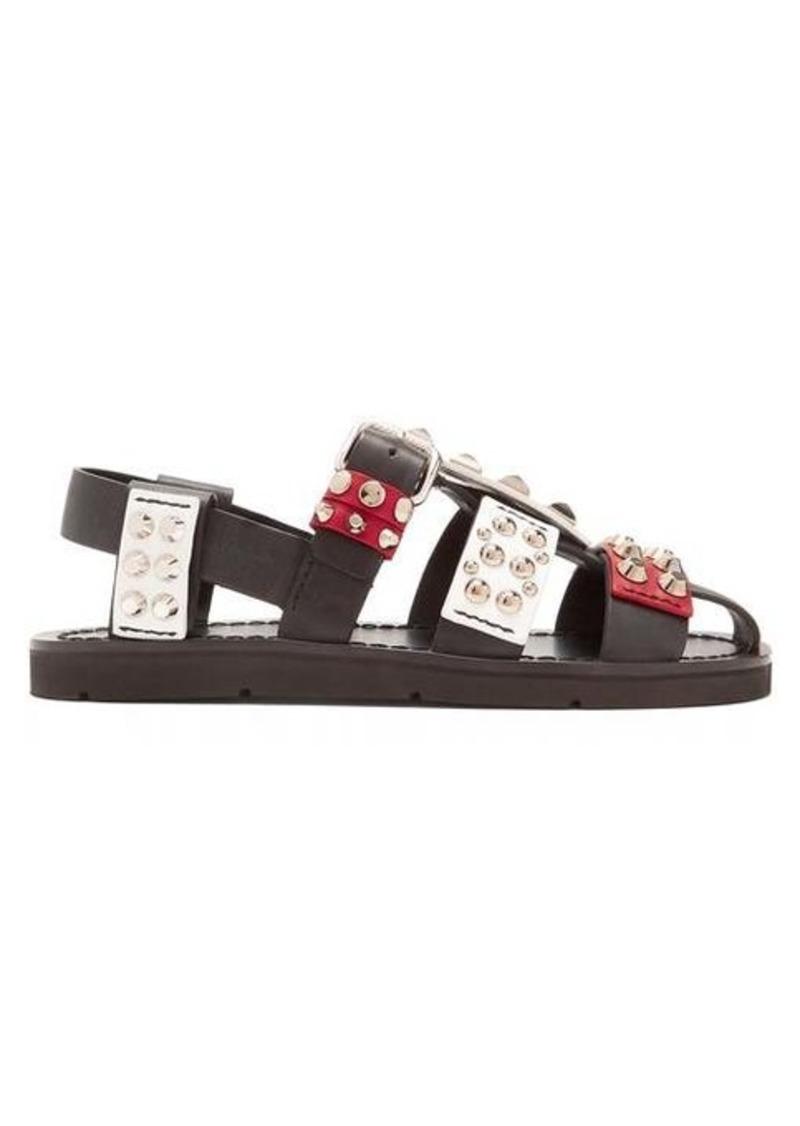 Prada Stud-embellished leather sandals