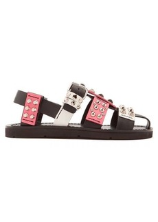 Prada Stud-embellished leather sandals