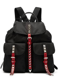 Prada Stud-embellished nylon backpack