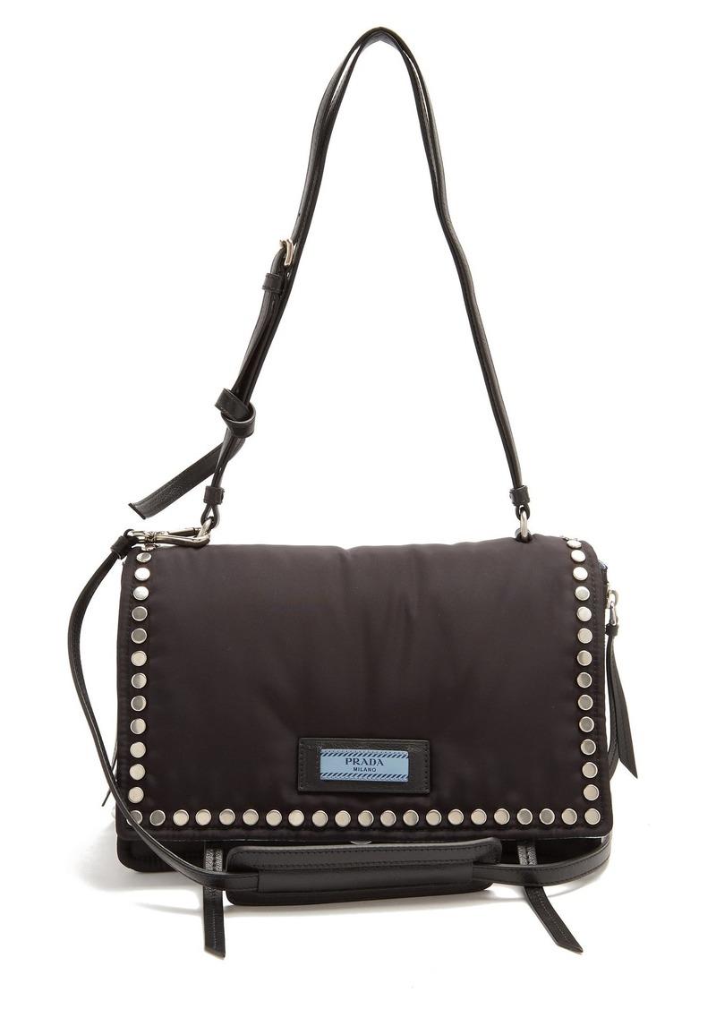 97800c6d2135 Prada Prada Stud-embellished nylon cross-body bag | Handbags