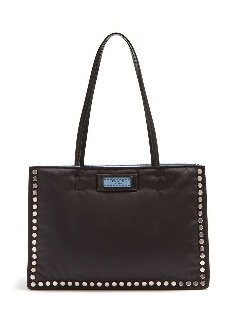 f556310b10f4 Prada Prada Stud-embellished nylon tote bag | Handbags