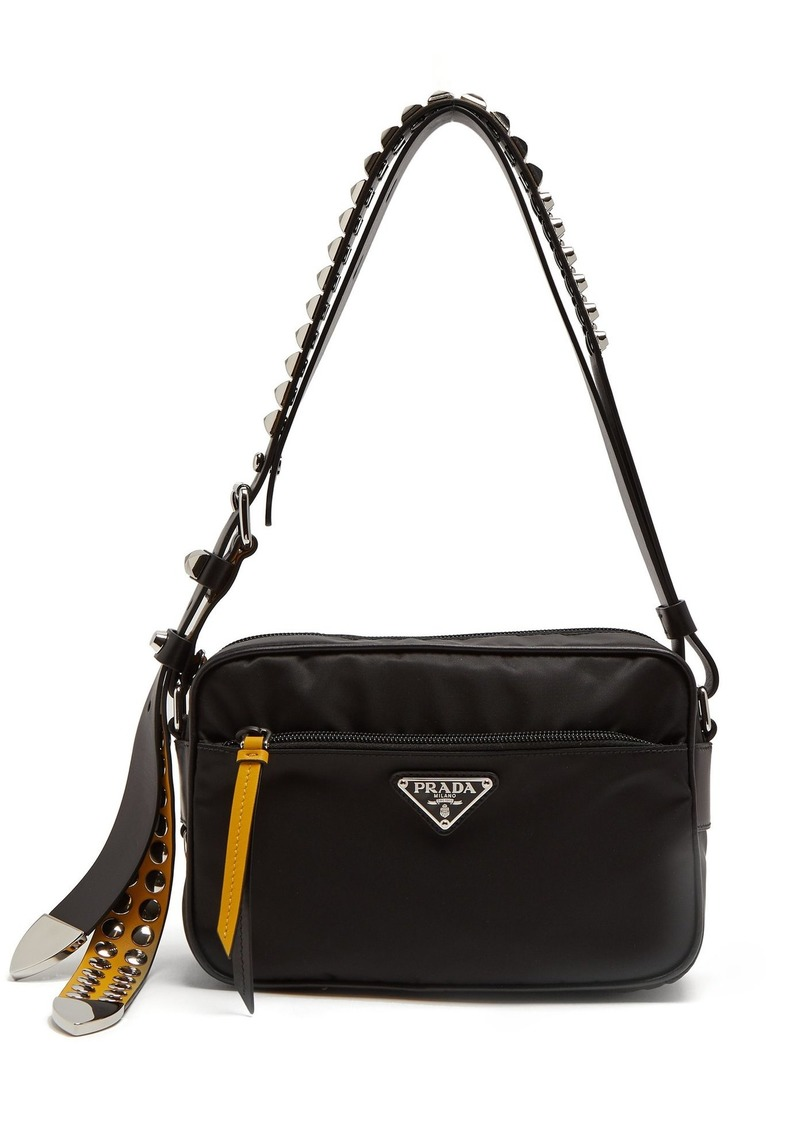 f18ff6ebf801 Prada Prada Stud-embellished strap nylon cross-body bag | Handbags