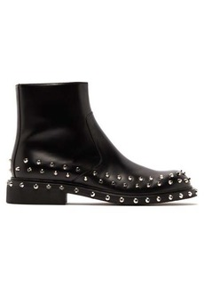 Prada Studded leather ankle boots