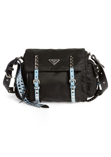 Prada Studded Nylon Messenger Bag