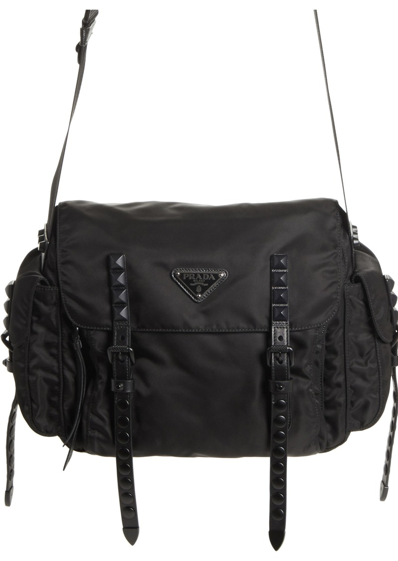 e9f98290b Prada Prada Studded Nylon Messenger Bag | Handbags