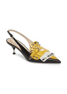 Prada Studded Slingback Pump (Women)