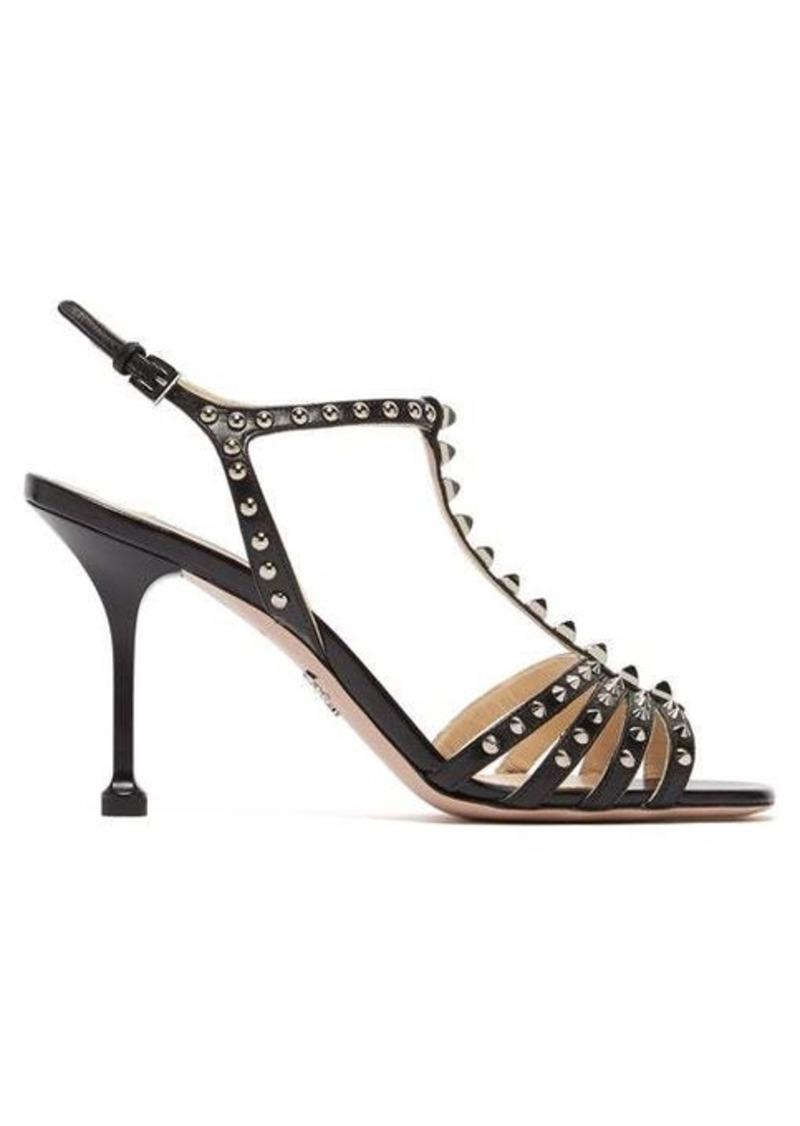 Prada Studded T-bar leather sandals