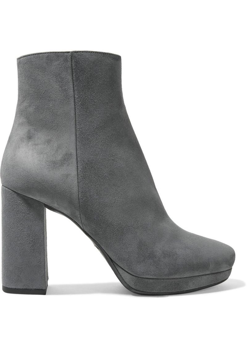 89bbca412ecc Prada Prada Suede platform ankle boots