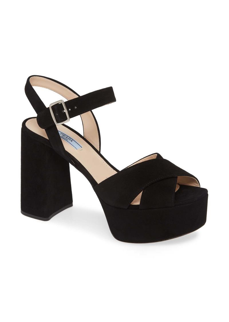 Prada Suede Platform Sandal (Women)