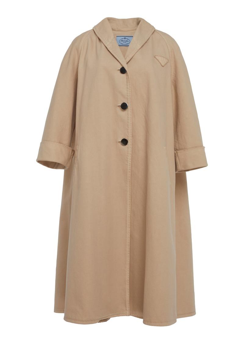 Prada Swing Cotton Overcoat