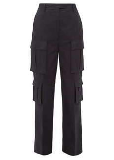 Prada Tailored cotton-poplin cargo trousers