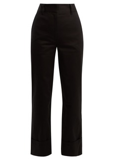Prada Tailored straight-leg cotton trousers