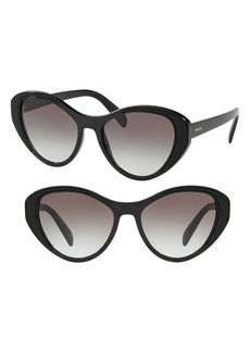Prada Tapestry Evolution 55mm Cat Eye Sunglasses