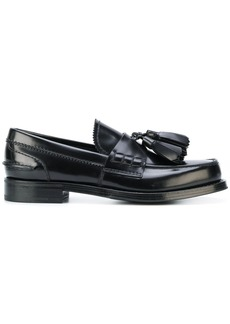 Prada tassel front loafers - Black