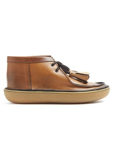 Prada Tassel leather desert boots