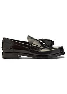 Prada Tassel-trimmed leather loafers