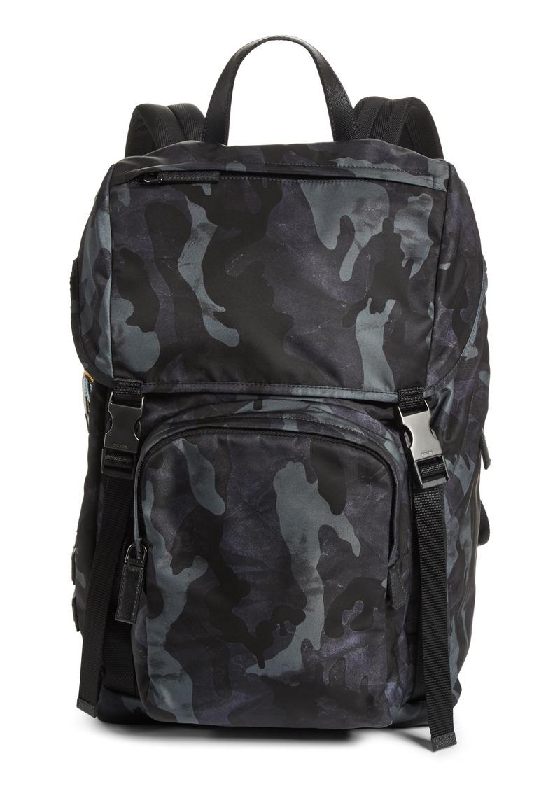 f5053d45dc83 SALE! Prada Prada Tessuto Camo Nylon Backpack