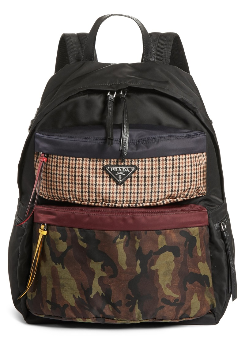 07b75057dd97 SALE! Prada Prada Tessuto Camo Patch Nylon Backpack