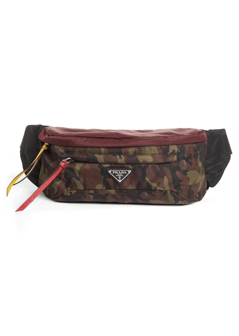 a37edc56b45f On Sale today! Prada Prada Tessuto Camo Print Waist Pack