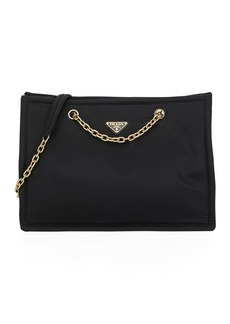 Prada Tessuto Chain Shopper Tote Bag
