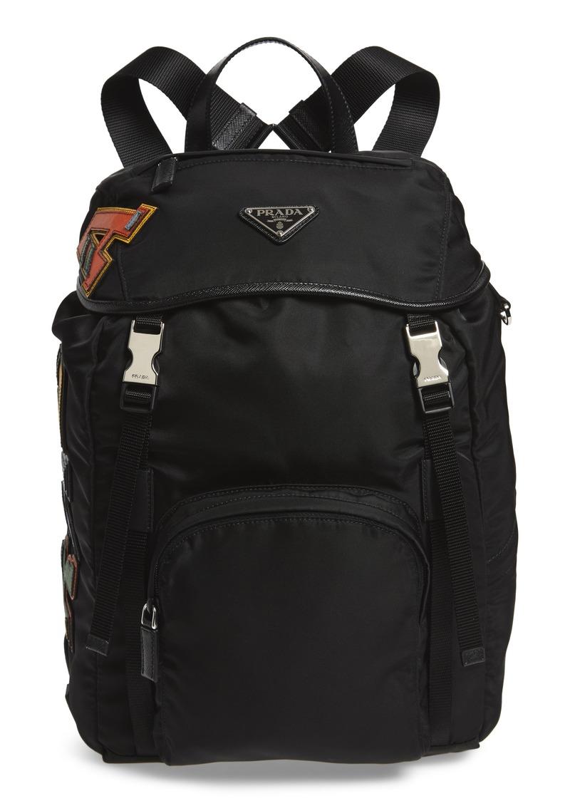 76598840ac5b91 Prada Prada Tessuto Lettering Unisex Nylon Backpack | Handbags